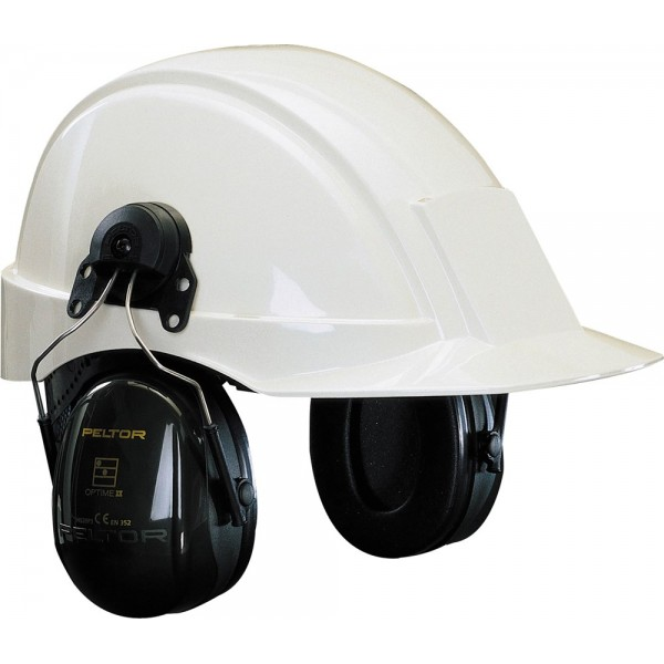 Gehoorkap optime ii h520p3e - inc. adapters voor helm met 30 mm sleuf, 3M