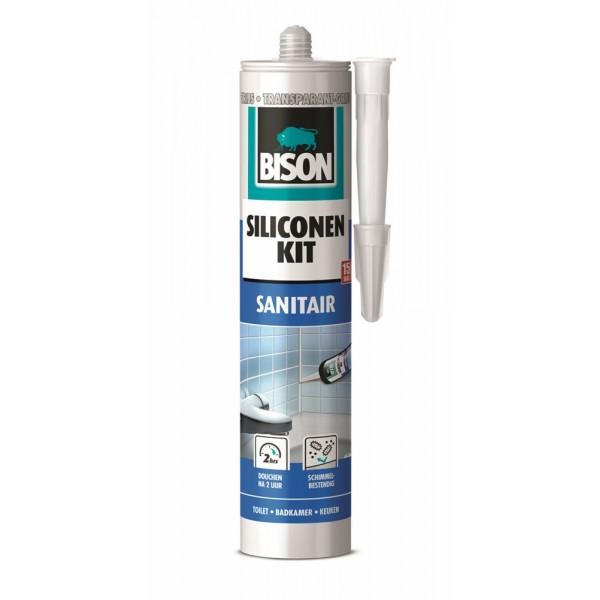 BISON SILICONENKIT SANITAIR TRIJS 300ML*12 NL